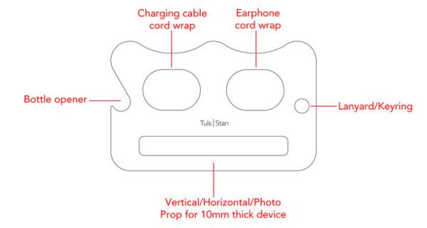 Stan - подставка для смартфона и хранения наушников
