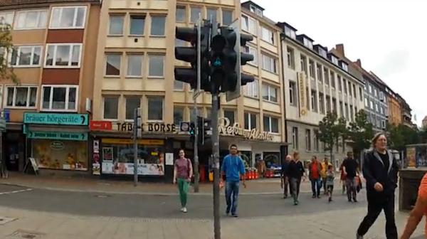 Пешеходный переход в г. Хильдесхейм, Германия