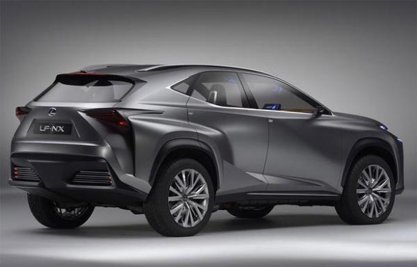 Концепт футуристичного кроссовера Lexus LF-NX