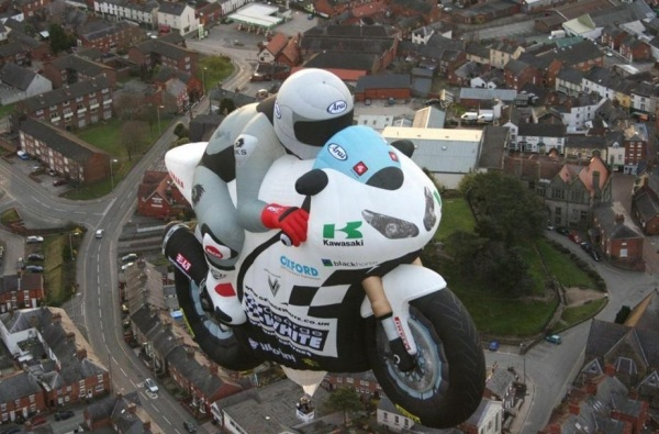 Надувной шар в форме мотоцикла от George White Superbikes