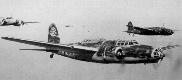 Японский бомбардировщик Mitsubishi Ki-21