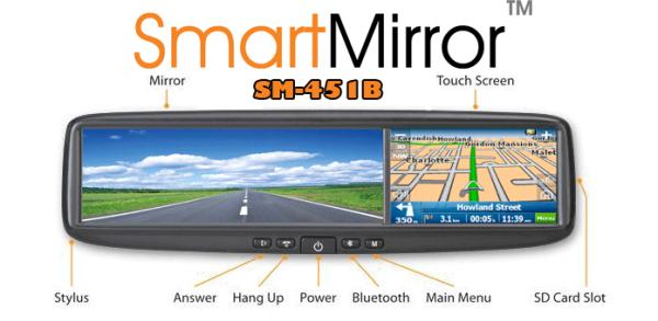 Зеркало заднего вида со встроенным GPS-навигатором