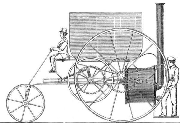 Первый паровой автомобиль Ричарда Тревитика