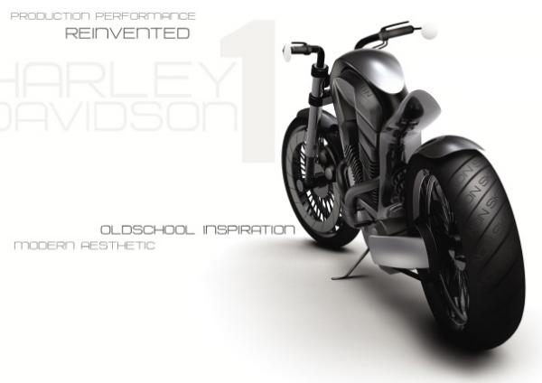Концепт футуристичного чоппера 2020 Harley Davidson 1