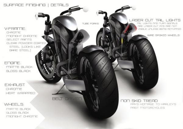 Стильный концепт имеет хромированную раму и использует технологию лазерной перфорации