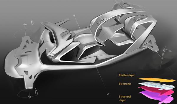 Слоистая структура BMW i-3/60°