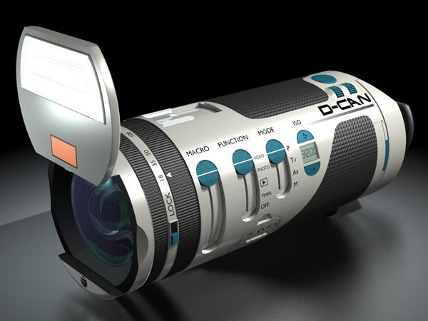 Концепт компактной камеры D-CAN