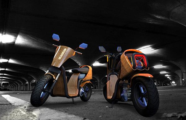 Концепт экологичного скутера EcoMoto