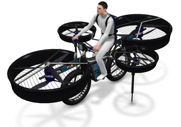Концепт летающего велосипеда Flying Bike