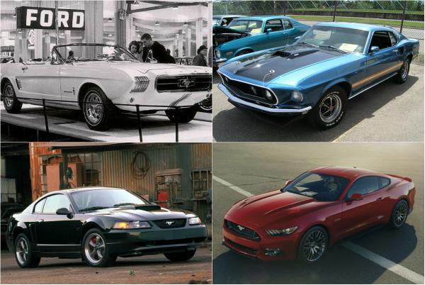 Ретроспектива моделей легендарного Ford Mustang