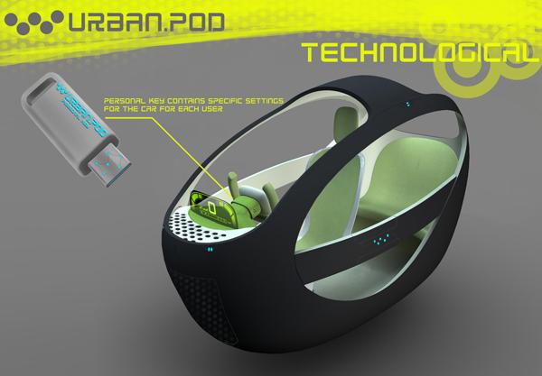 Urban Pod заводится при помощи уникального ключа