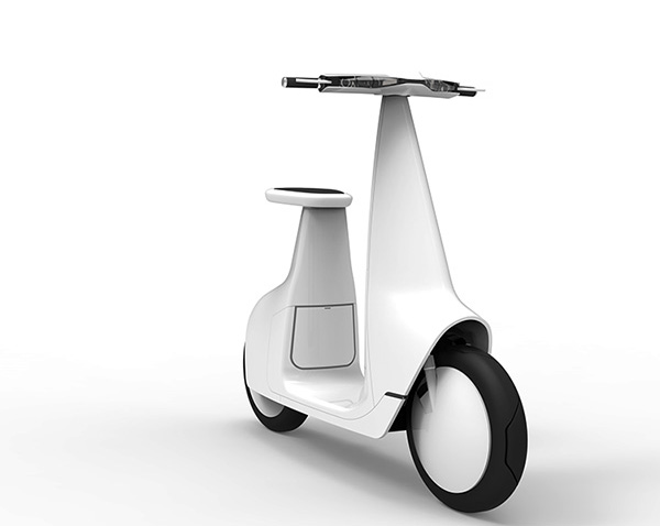 Концепт электрического скутера T-Scooter