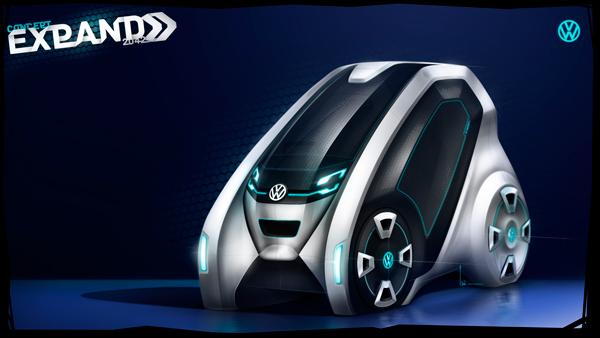 Концепт компактного, но вместительного VW Expand