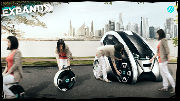 Съемные колеса Expand служат отдельным транспортным средством