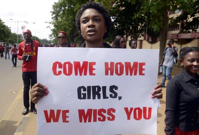 Демонстрация против похищения нигерийских школьниц группировкой Боко Харам
