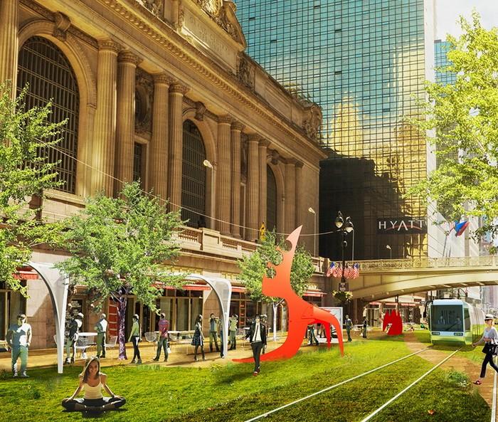 Greenway – потрясающий проект превращения в парк 42-й улицы в Нью-Йорке