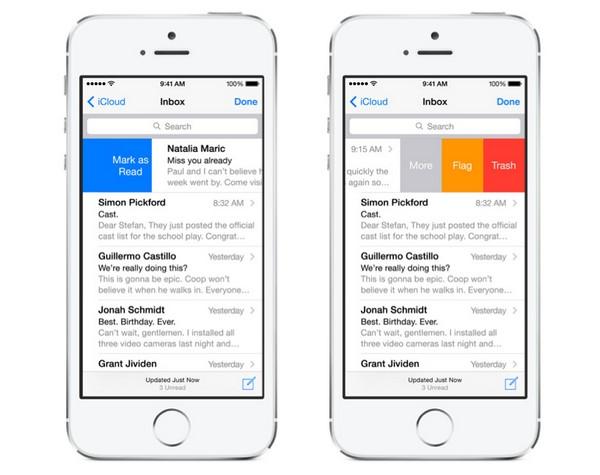 Почтовый клиент mail в операционной системе iOS 8