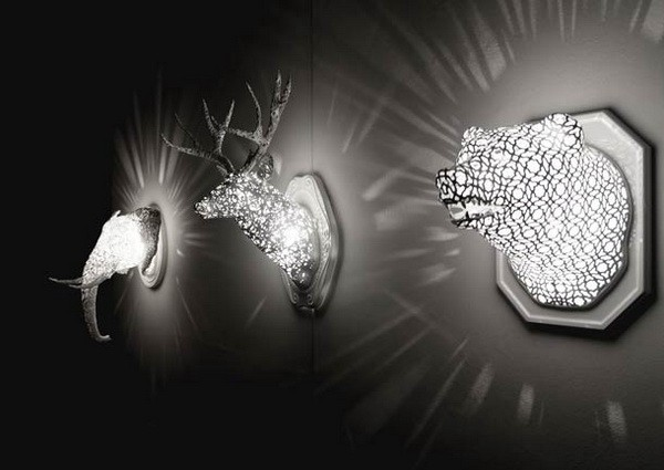 Светильники в виде животных, напечатанные на 3D-принтере