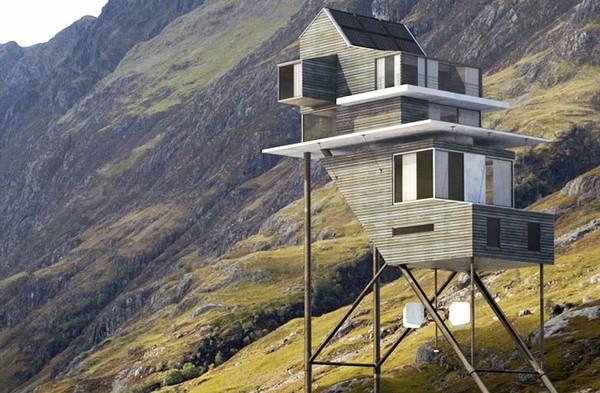 Roost House – дом на высоких сваях в Шотландии. Источник фото: Benoit Challand