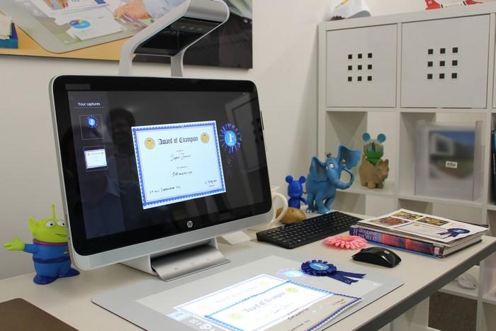 HP Sprout – революционный настольный компьютер без клавиатуры и мышки