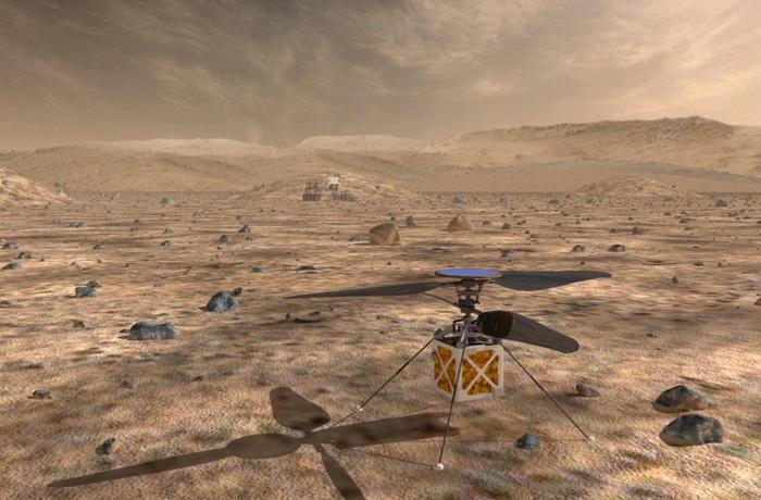 Mars Helicopter – миниатюрный беспилотник для освоения Марса