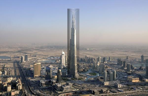 Exo-Burj – тканевая завеса для небоскреба Бурдж-Дубай. Источник фото: OP-EN