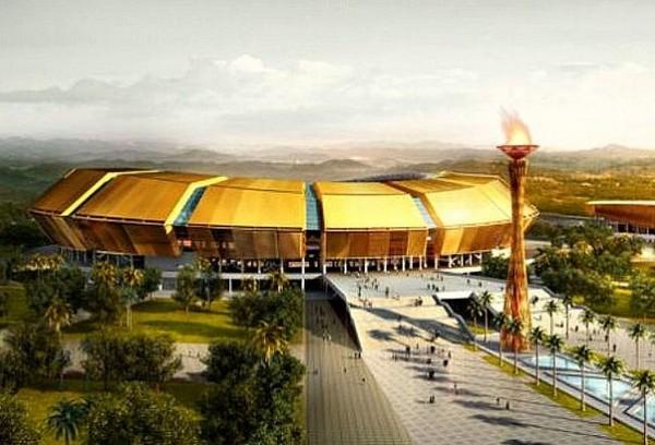 Золотой стадион в Браззавиле к Панафриканским играм 2015 года. Источник фото: PTW Architects