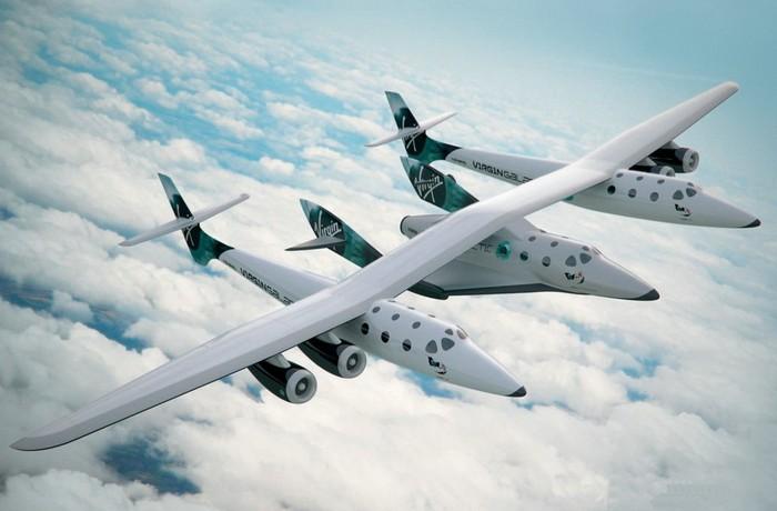 Космический челнок SpaceShipTwo и самолет-носитель WhiteKnightTwo