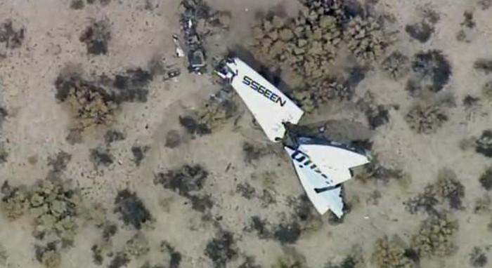 Первая фотография места падения SpaceShipTwo