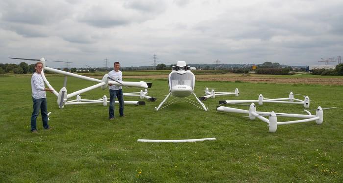 Volocopter – вертолет с управлением, как у игрушечного мультикоптера
