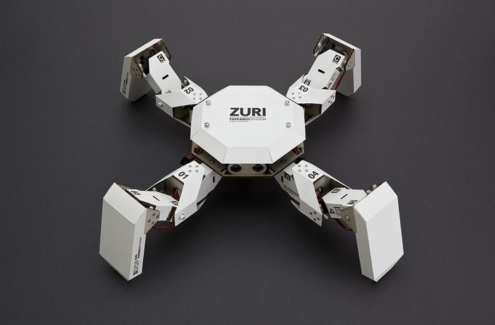 ZURI – робот из бумаги,