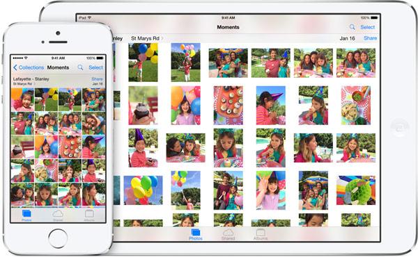 Фотогалерея на смартфоне и планшете с iOS 8