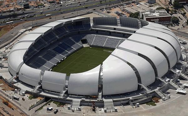 Стадион-цветок Arena das Dunas к Чемпионату Мира по футболу в Бразилии