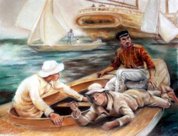 Иллюстрация в книге Трое в лодке, не считая собаки