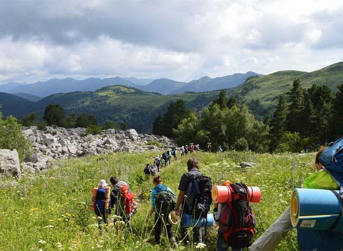 Поход по туристическому маршруту №30 на Кавказе