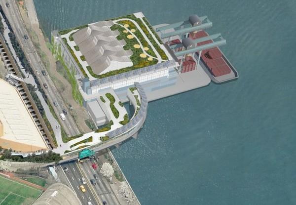 Новый нью-йоркский парк на крыше мусорного терминала