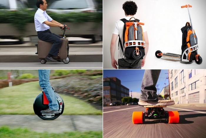Современные транспортные средства, которые можно спрятать в рюкзаке