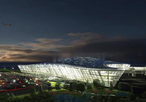 Новый терминал аэропорта в Баку