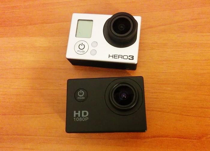 Визуальное сравнение экшн-камер SJ4000 и GoPro