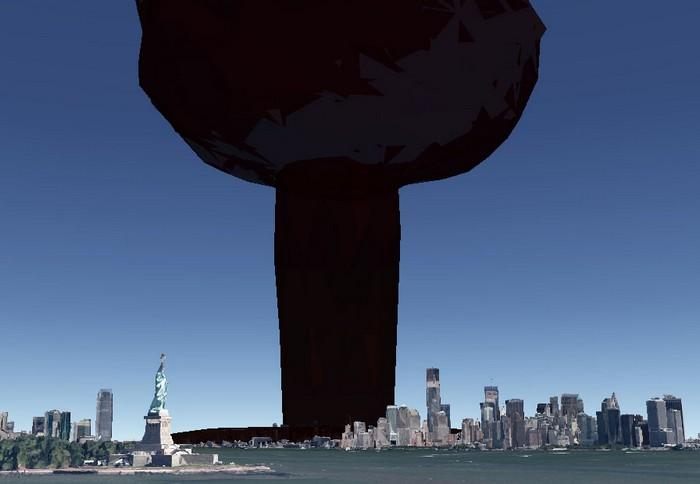 Nukemap – виртуальная ядерная кнопка, которая позволит уничтожить любой город