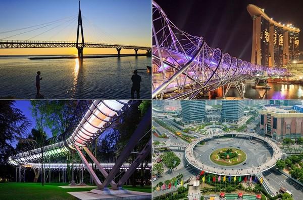 Самые необычные в мире пешеходные мосты