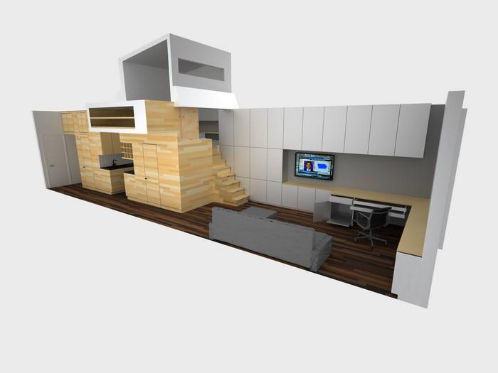 E-Village Studio – просторная маленькая квартира