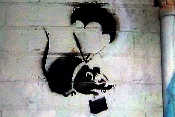 Parachuting Rat от Бэнкси. Источник фото: abc.net.au