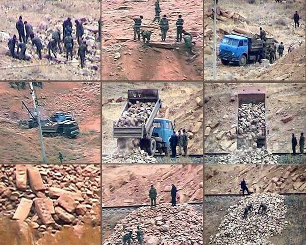 Уничтожение хачкаров в Джульфе. Источник фото: wikimapia.org