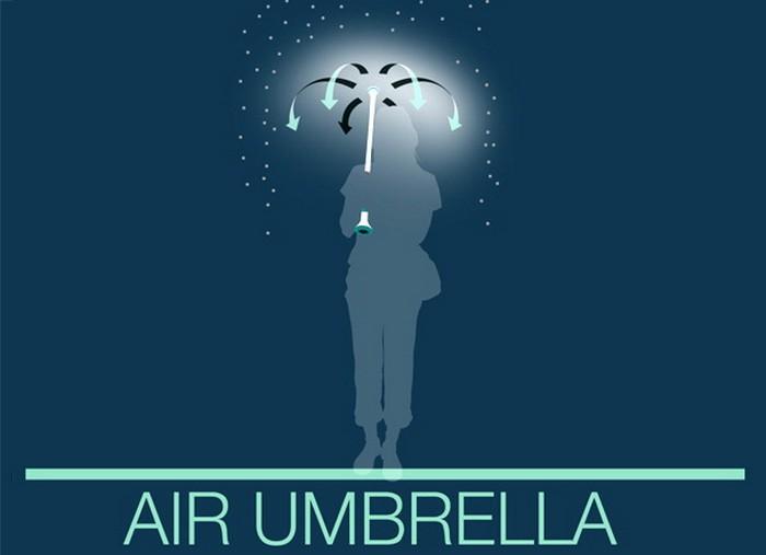Air Umbrella – невидимый зонтик против дождя