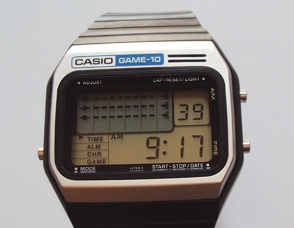 Casio GM-10: первые часы с видеоигрой