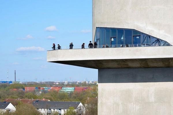 Смотровая площадка на верхнем уровне Energy Bunker. Источник фото: iba-hamburg