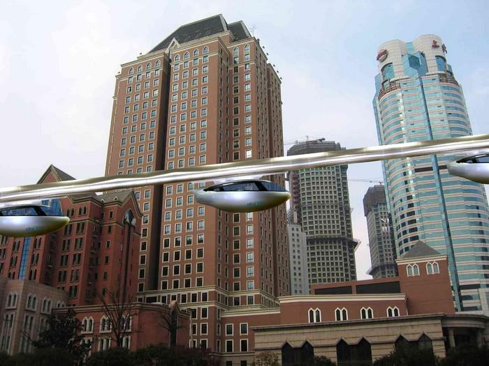 SkyTran – воздушная железная дорога на магнитной подушке