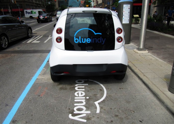 Электромобиль Bollore Bluecar из сети общественных автомобилей BlueIndy