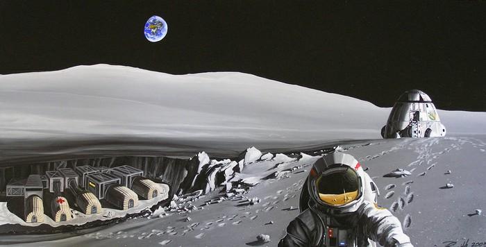 Российская обитаемая станция на Луне